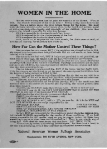 Broadside created by the National American Woman Suffrage Association